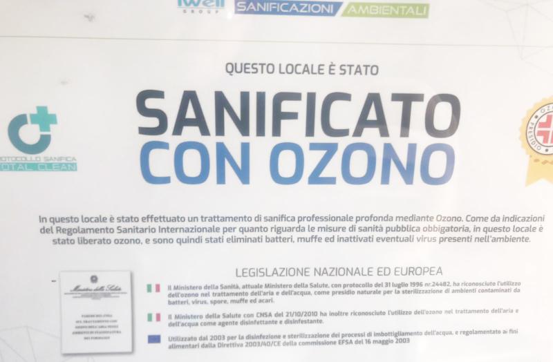 Sanificazione Ambienti Ozono